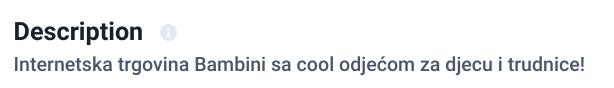 meta opis cool odjeca