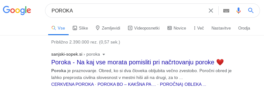 spletna optimizacija poroka sopki
